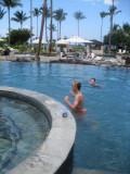 Luke in the pool