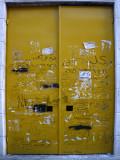 Large Yellow Metal Door