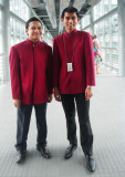 Young men in Red