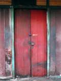 Fading Red Aged Door