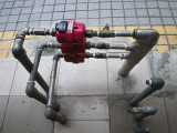 Red Plastic Water Meter