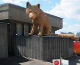 Straw Statue of a Shy Fox