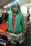 Tall Blue Hair Teen