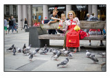 44. Feeding the pigeons.........