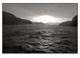 Rainshowers at sea