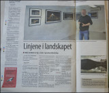 A newspaper article about the exhibition