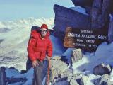 Me on Trail Crest near top of Mt. Whitney, 1977 PCT