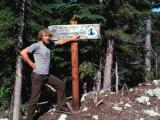 Monte at Stevens Pass. (  Sept. 1977  With Only 183 miles To Go!)