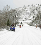 Snow Mobiling On  Mad River Road