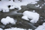 Winter Water Along  Mad River...