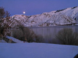 Columbia River Near Entiat With Full Moon Coming Up