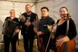 Elizabeth Jones accordion, Justin Screen clarinet, Martin Lee violin and Rachel Whealy cello
