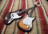 Strat Ultra and Jazz Bass 2.JPG