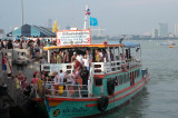 Tourists disembark at Pattaya