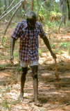 Tiwi hunter with prey, NT