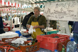 Shopping at the weekly market in Kelso, Scotland