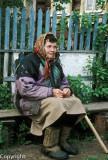 Elderly village woman
