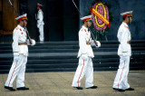 Goose-stepping honour guard at the Ho Chi Minh Mausoleum