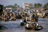 Floating market at Cai Rang