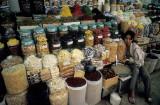 Nut display at Ben Thanh market