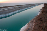Dusk falls over the saltpans, Rann of Kutch