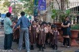 School group waiting to enter the Chhatrapati Shivaji (Prince of Wales) Museum