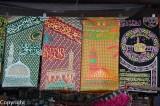Muslim wall hangings for sale near the Haji Ali Mosque