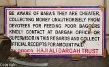 Stern warning, Haji Ali Mosque