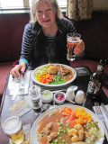Pub lunch after a brisk walk along the canal towpaths