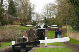 Multiple locks at Stewponey, Stourton