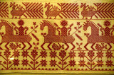Folk embroidery displayed at the Russian Museum