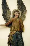 Polychrome angel displayed at the Russian Museum