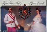 Franz Josef and Elisabeth, circa 1865 (from a postcard)