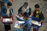Cigarette vendors in the Burmese border town of Tachileik