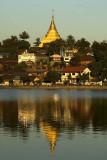 Wat Jom Kham overlooks the Naung Tung Lake at Kengtung