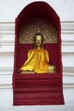 Buddha image in a niche