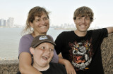 NYC - Tracy, Kyle & Travis at Statue of Liberty