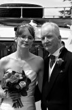 The Bride and Dad in Black and White