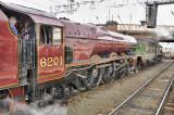 GWR 5043 and LMS 6201- locomotives in tendem at Carlisle 10.03.2012.jpg