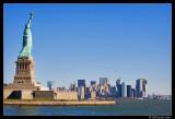 Liberty Island and Manhattan