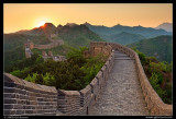 Sunrise over the Great Wall