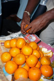 Oranges for sale on bus to Matara