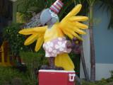 The parrot mascott at Jimmy Buffet's Margaritaville