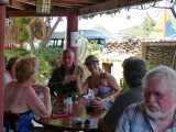 Rita, Jack, Pamela and John at the restaurant
