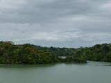 Sailing through Gatun Lake