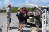 Lynda & Jim outside the lighthouse talk to Patty & Dave