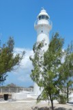 The lighthouse is built of cast iron pieces imported from England