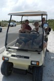 The four of us in Nathan's golf cart