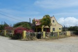 The houses on the island are colourful and well maintained