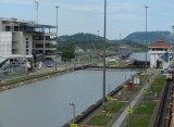 Going through Miraflores Locks